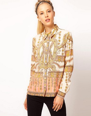 Image 1 ofASOS Shirt With Placement Paisley Print