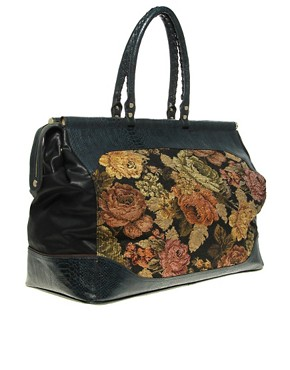 Image 4 ofRiver Island Large Tapestry Weekend Bag
