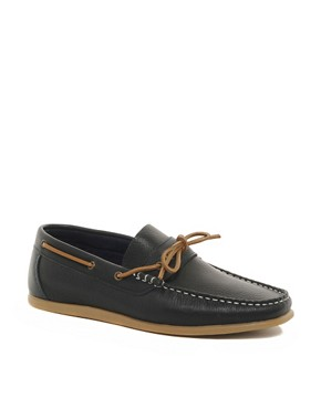 Image 1 ofRiver Island Nolan Tie-Front Loafers