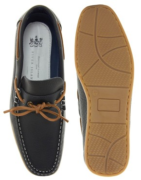 Image 3 ofRiver Island Nolan Tie-Front Loafers