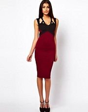 ASOS Pencil Dress with Contrast