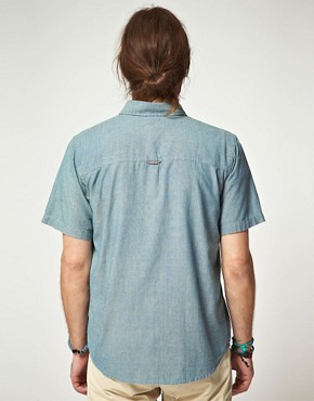 Image 2 ofEdwin Short Sleeve Selvage Chambray Shirt