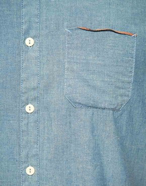 Image 3 ofEdwin Short Sleeve Selvage Chambray Shirt