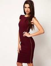 Hybrid Dress with Side Zip Feature in Midi Length
