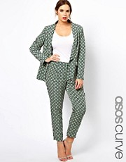 ASOS CURVE Exclusive Trouser In Statement Geo