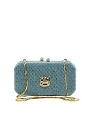 Love Moschino Woven Owl Clutch Bag