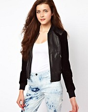 Vero Moda Sporty Leather Bomber