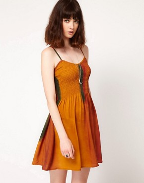 Image 1 ofEvil Twin &#39;Walking Dawn&#39; Strappy Skater Dress