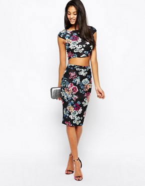 Lipsy Floral Lace Bodycon Skirt