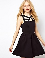 River Island Cut Out Detail Skater Dress