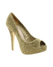 Miss KG Josephine Platform Peep Toe Court Shoes
