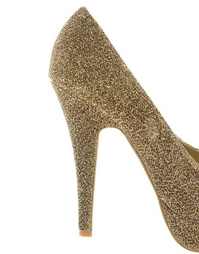 Image 2 ofMiss KG Josephine Platform Peep Toe Court Shoes