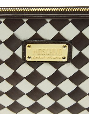 Image 4 ofMoschino Cheap &amp; Chic Weaving Clutch Bag