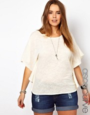 ASOS CURVE Exclusive Cape Top In Jersey