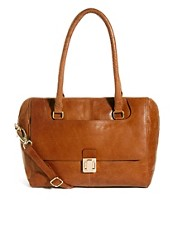 Oasis Leather Front Pocket Shoulder Bag