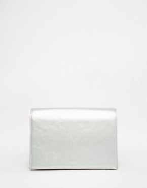 ASOS Metallic Multi Gusset Clutch Bag