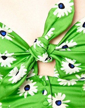 Image 3 ofASOS Bra Top In Retro Daisy Print