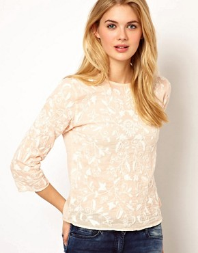 Image 1 ofMango Embroidered Blouse