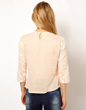 Image 2 ofMango Embroidered Blouse