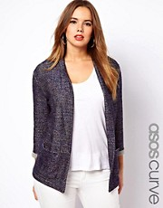 ASOS CURVE Jacket In Boucle