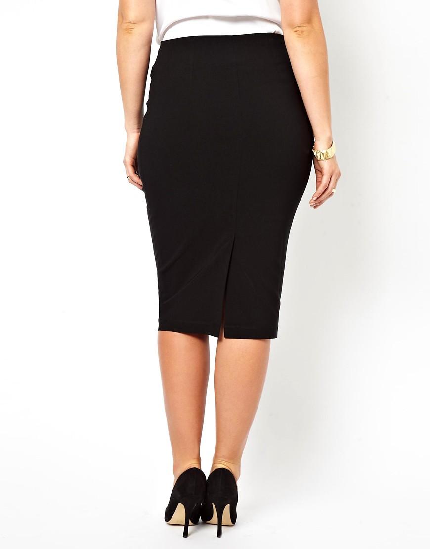 Image 2 ofASOS CURVE Bengaline Pencil Skirt With Zip