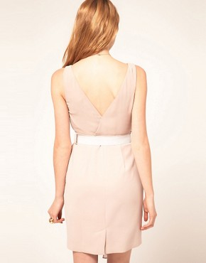 Image 2 of Warehouse Chiffon Overlay Dress