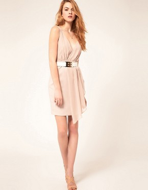 Image 4 of Warehouse Chiffon Overlay Dress