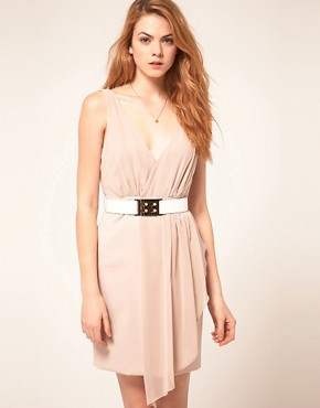 Image 1 of Warehouse Chiffon Overlay Dress