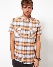 Diesel Shirt Short Sleeve Studder Check