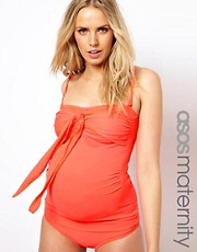 ASOS Maternity Exclusive Tankini Top With Bow
