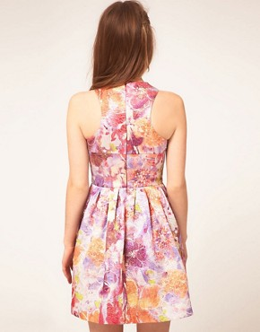Image 2 ofASOS Lantern Dress in Darling Buds Print