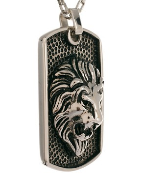Image 4 ofShimla Lion Dogtag Necklace
