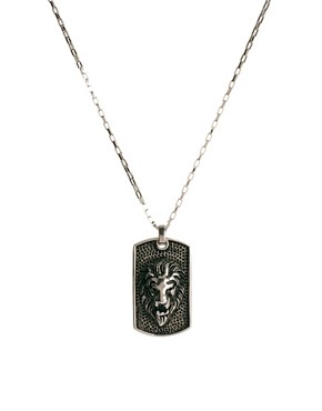 Image 1 ofShimla Lion Dogtag Necklace