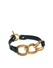 Gorjana Graham Leather and Chain Link Bracelet