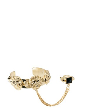 Image 3 ofRiver Island Lions Head Bangle Panja