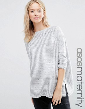 ASOS Maternity Jumper In Ripple Stitch
