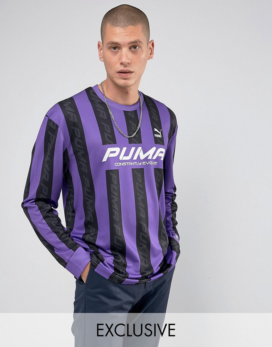 Puma Retro Football Jersey In Purple Exclusive to ASOS 57660201 - Purple
