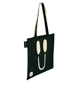 Image 2 ofLazy Oaf Happy Sad Tote Bag