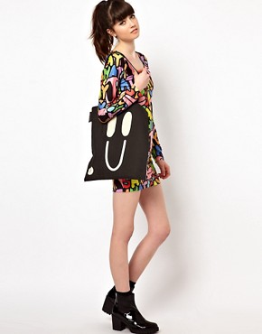 Image 3 ofLazy Oaf Happy Sad Tote Bag