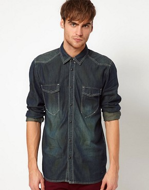 Image 1 ofSolid Denim Shirt