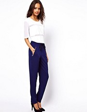 ASOS Peg Pants with Zip Detail and Tie Waist