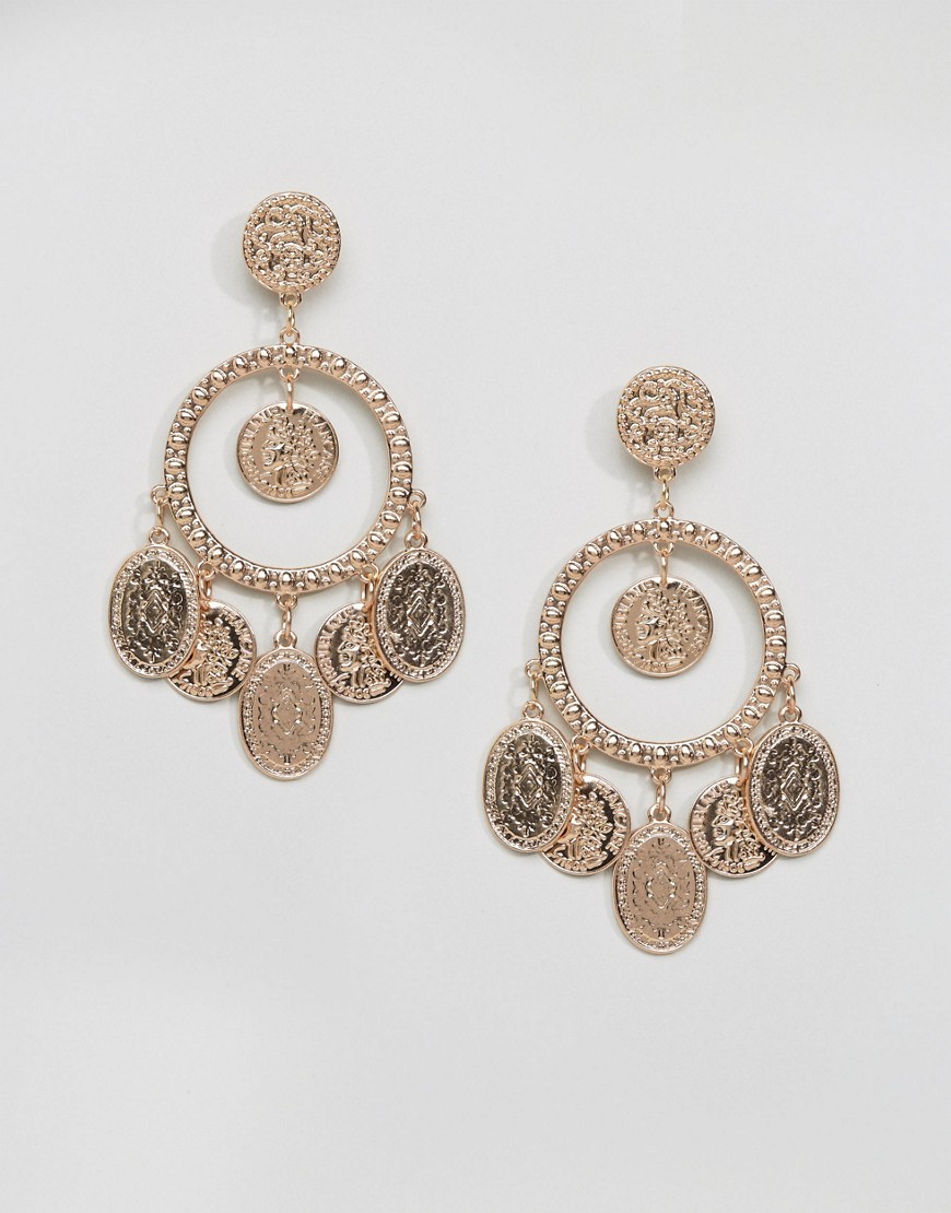 Ashiana Festival Coin Detail Earrings - Gold