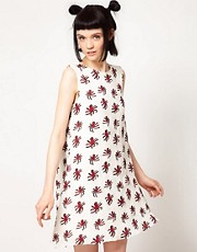 The Rodnik Band Shift Dress with Octopus Print