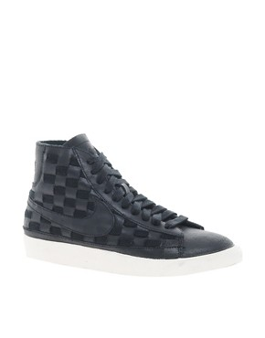 Image 1 ofNike Blazer Mid Hyper Black High Top Trainers