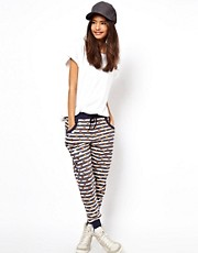 ASOS Sweatpants in Stripe with Foil Spot