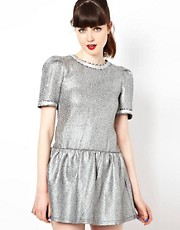 Sister Jane Tweed Dress with Drop Waist