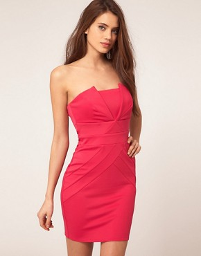 Image 1 ofLipsy Pleated Bandeau Dress