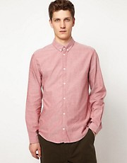 Suit Oxford Shirt With Button Down Collar