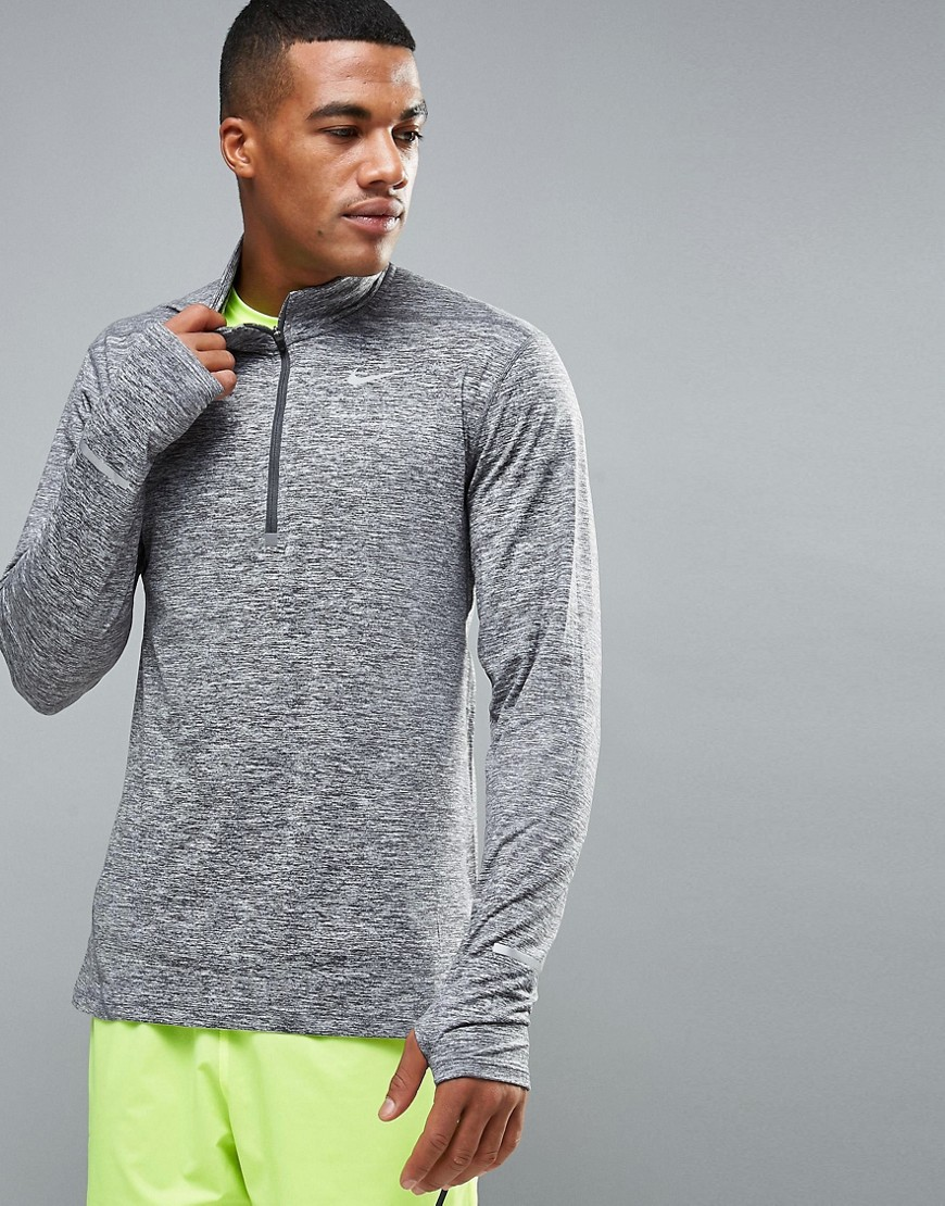 Nike Running Element Half-Zip Dri-Fit Top In Grey 683485-021 - Grey