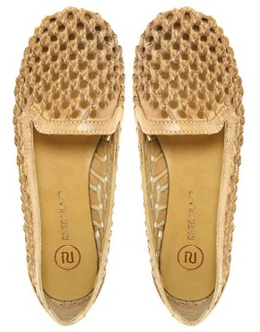 Image 2 ofRiver Island Sabara Woven Slipper Shoes